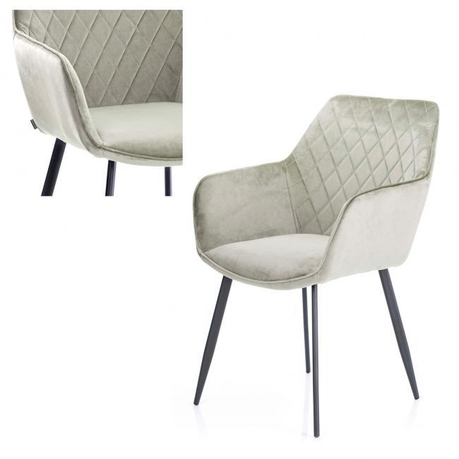 Krzesło welwetowe  - cappuccino