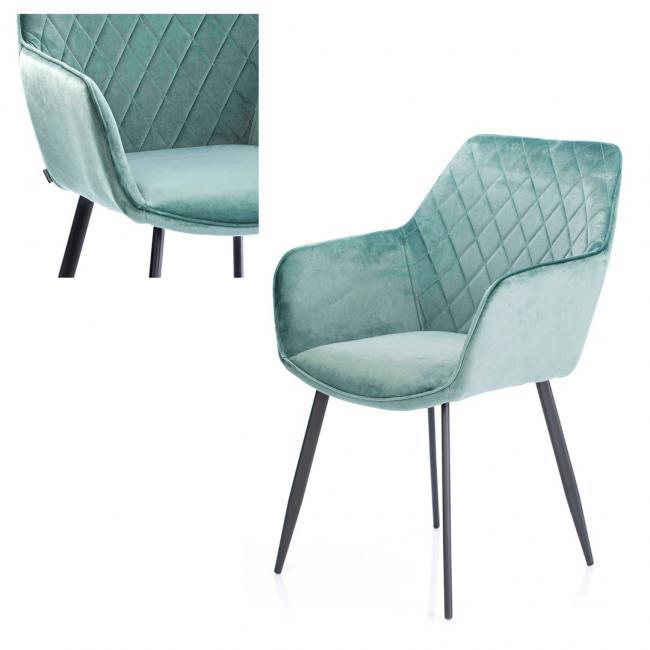 Krzesło welwetowe - zielony
