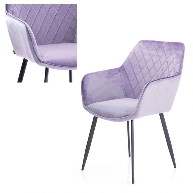 Krzesło welwetowe - liliowe