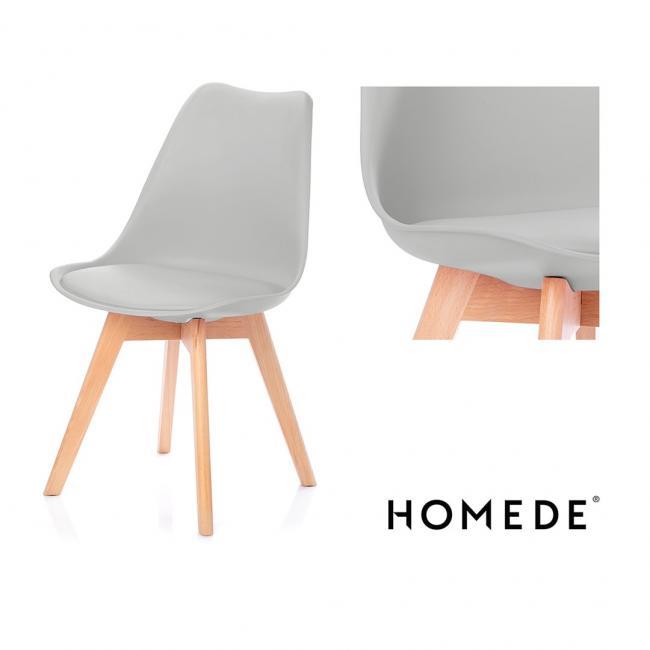 Krzesło - jasnoszare