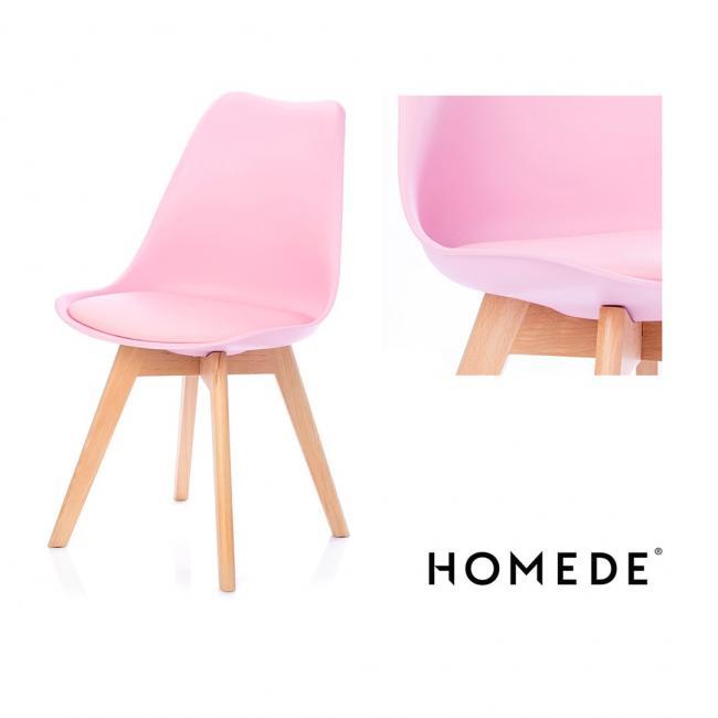 Krzesło - różowe