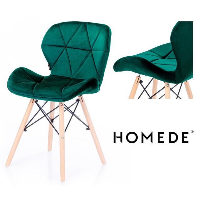 Krzesło welwetowe - zielone