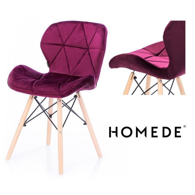 Krzesło welwetowe - amarantowe