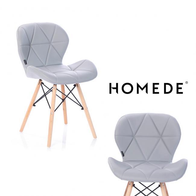 Krzesło imitacja skóry - stalowe