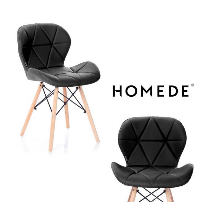 Krzesło - imitacja skóry - czarne