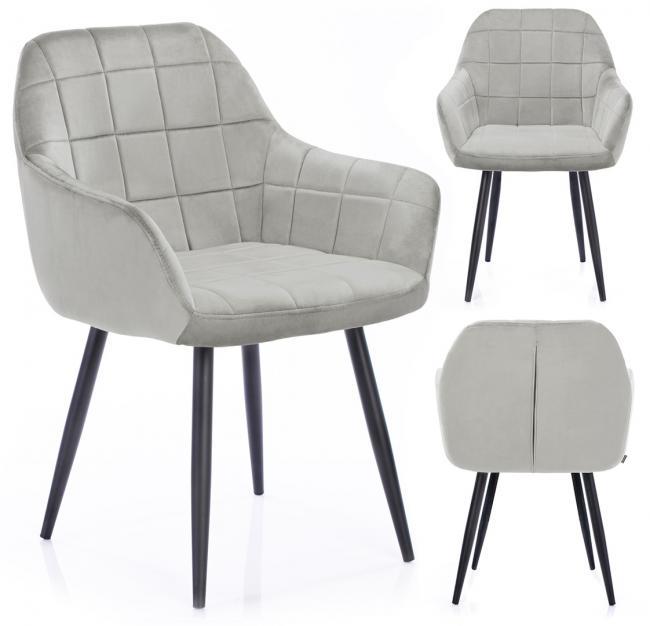 Krzesło STILLO srebrne