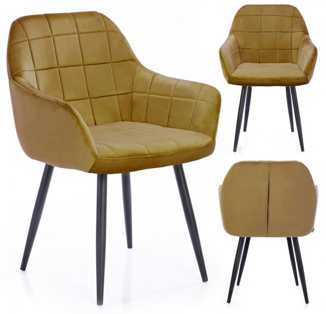 Krzesło STILLO musztardowe