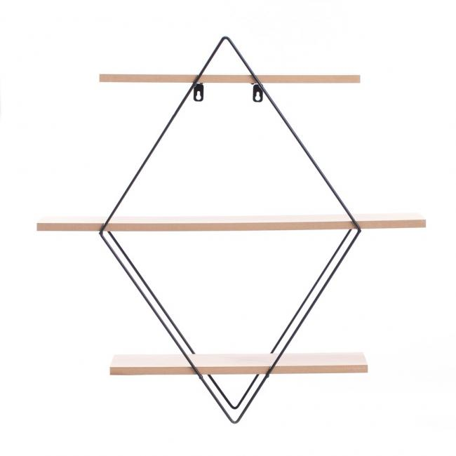 Półka dekoracyjna w kształcie rombu (3 poziomy) EROS