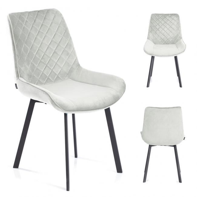 Krzesło welwetowe Kemble stalowe