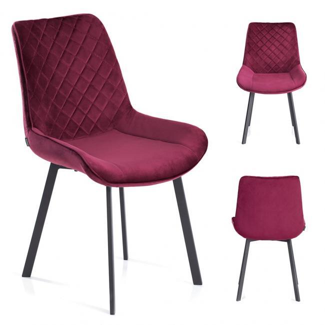 Krzesło welwetowe Kemble amarant