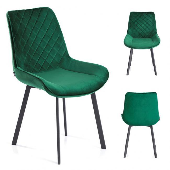 Krzesło welwetowe Kemble butelkowa zieleń