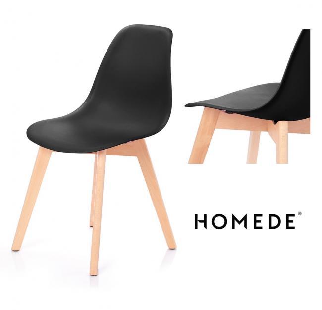 Krzesło MIRANO z tworzywa czarne