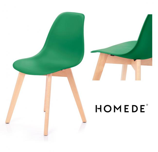Krzesło MIRANO z tworzywa ciemna zieleń