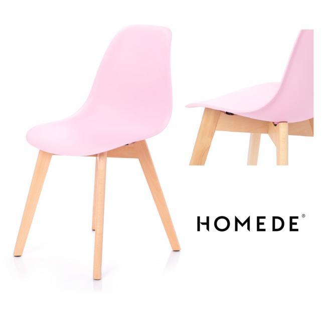 Krzesło MIRANO z tworzywa różowe