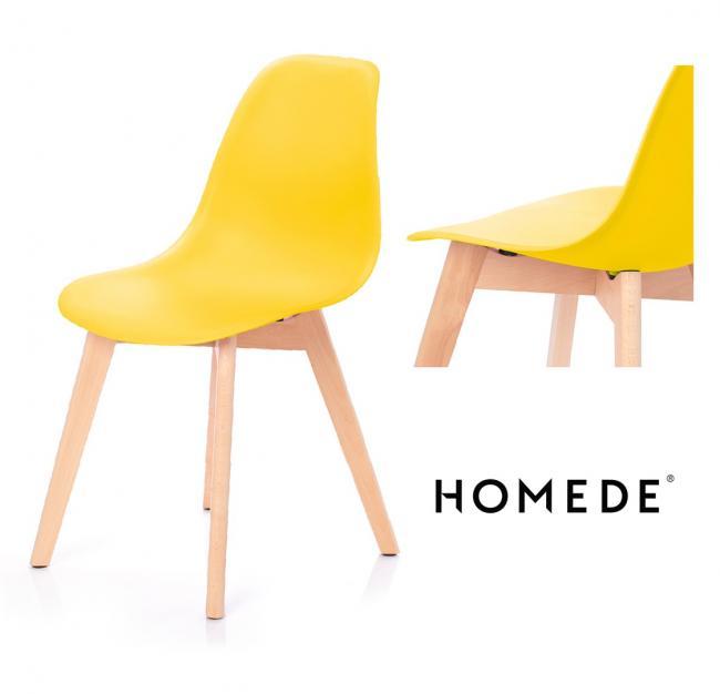 Krzesło MIRANO z tworzywa żółte