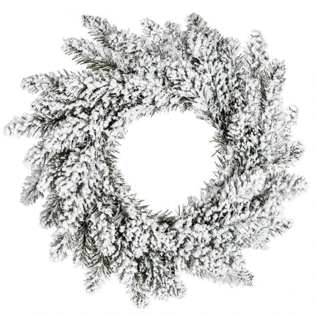 DecoKing - Wieniec bożonarodzeniowy - zielono biały - sztuczny świerk - 50 cm