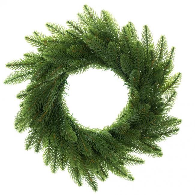 DecoKing - Wieniec bożonarodzeniowy - zielony - sztuczny świerk - 50 cm