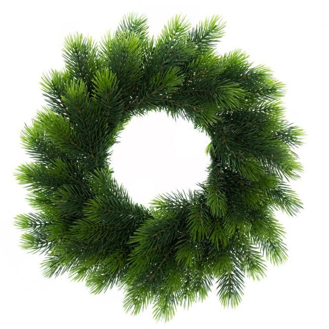 Wieniec bożonarodzeniowy - sztuczny świerk syberyjski - zielony -  50 cm