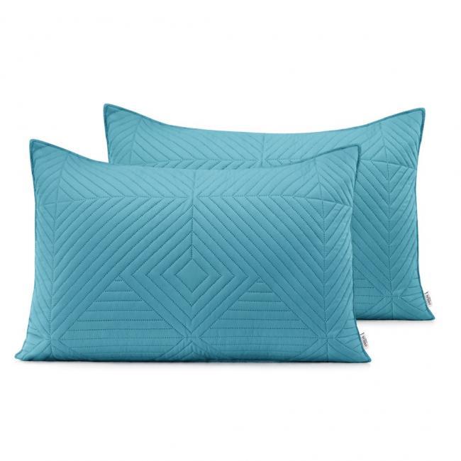 AmeliaHome - Poduszki pikowane -  jasnoniebieski, srebrny - 50x70 cm - 2 sztuki