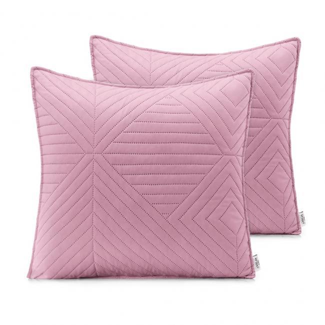AmeliaHome - Poduszki pikowane - różowy, srebrny - 45x45 cm - 2 sztuki