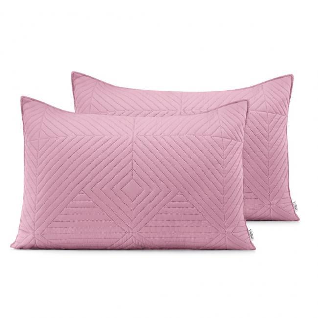 AmeliaHome - Poduszki pikowane - różowy, srebrny - 50x70 cm - 2 sztuki