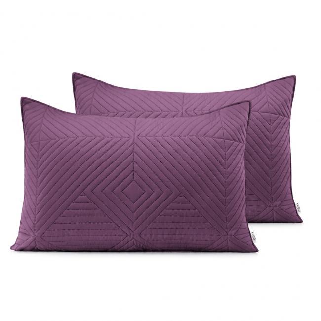 AmeliaHome - Poduszki pikowane - ciemnofioletowy, fiołkowy - 50x70 cm - 2 sztuki