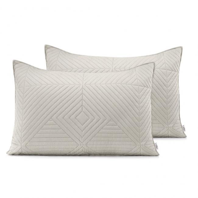 AmeliaHome - Poduszki pikowane - beżowy, cappucino -  50x70 cm - 2 sztuki