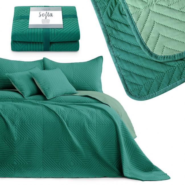 AmeliaHome - narzuta pikowana - zielona - różne rozmiary