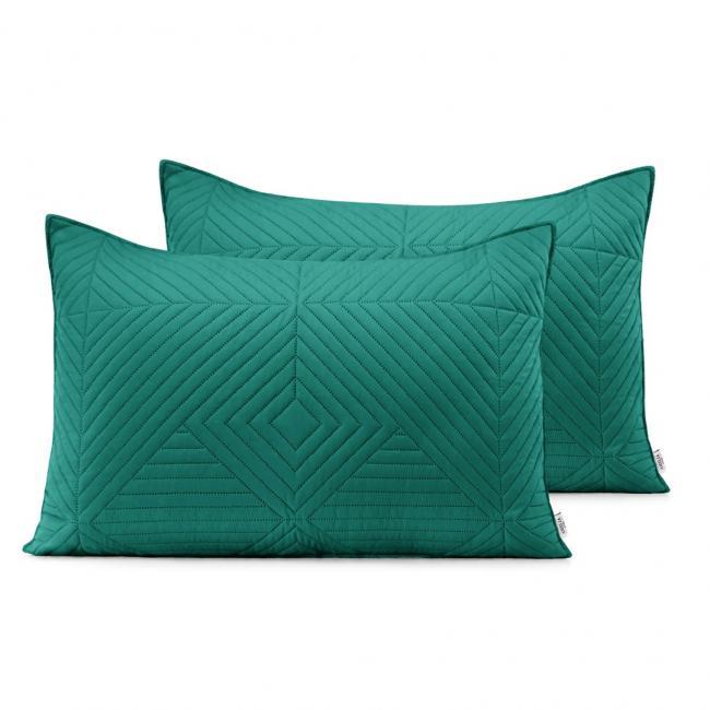 AmeliaHome - Poduszki pikowane - ciemnozielony, jasnozielony -  50x70 cm - 2 sztuki