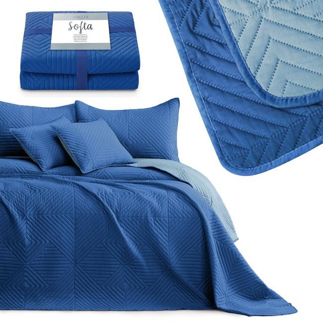 AmeliaHome - narzuta pikowana - niebieska - różne rozmiary