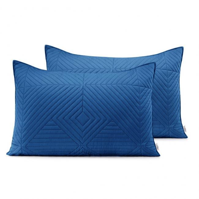 AmeliaHome - Poduszki pikowane - ciemnoniebieski, jasnoniebieski -  50x70 cm - 2 sztuki
