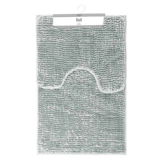 AmeliaHome - komplet dywaników łazienkowych - szare - 2 sztuki