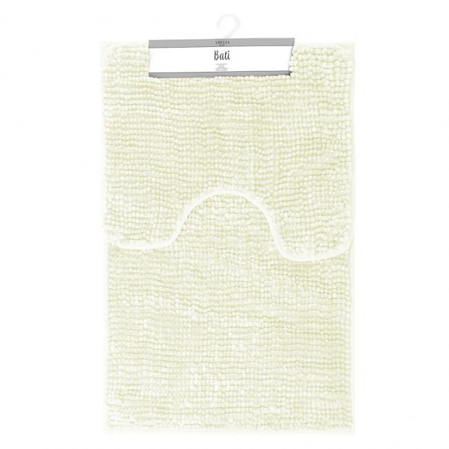 AmeliaHome - komplet dywaników łazienkowych - białe - 2 sztuki