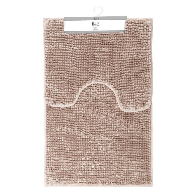AmeliaHome - komplet dywaników łazienkowych - pudrowy róż - 2 sztuki