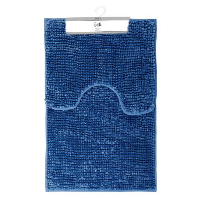 AmeliaHome - komplet dywaników łazienkowych - granatowy - 2 sztuki