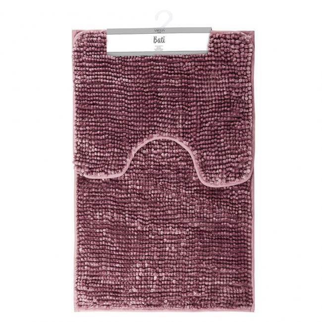 AmeliaHome - komplet dywaników łazienkowych - fiołkoworóżowe - 2 sztuki