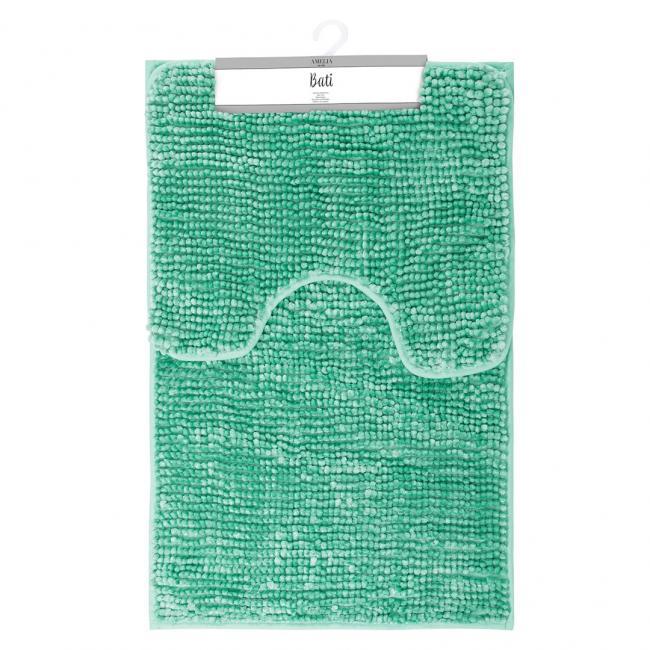 AmeliaHome - komplet dywaników łazienkowych - turkusowe - 2 sztuki