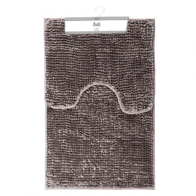 AmeliaHome - komplet dywaników łazienkowych - brązowe - 2 sztuki