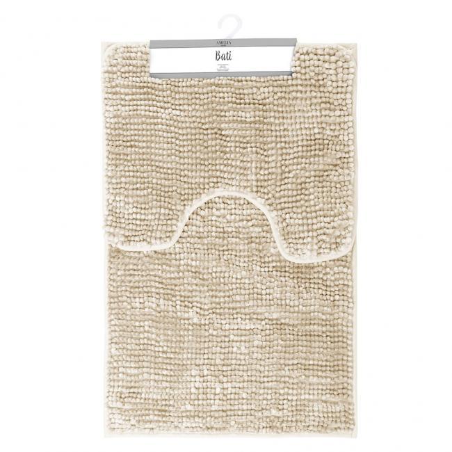 AmeliaHome - komplet dywaników łazienkowych - beżowe - 2 sztuki