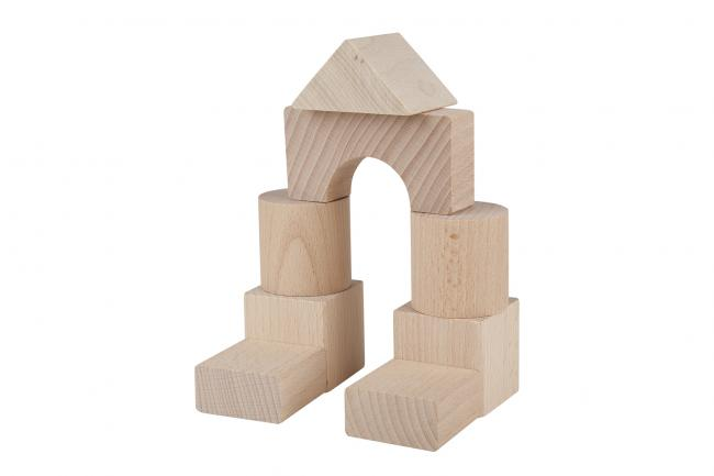 Drewniane klocki - 30 elementów