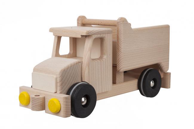 Drewniane auto - wywrotka - różne kolory