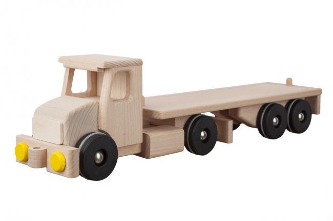 Drewniane auto - platforma - różne kolory