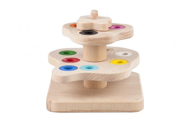 Drewniana zabawka - drzewko