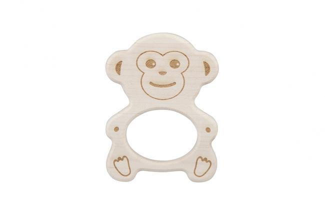 Drewniany gryzak - małpka