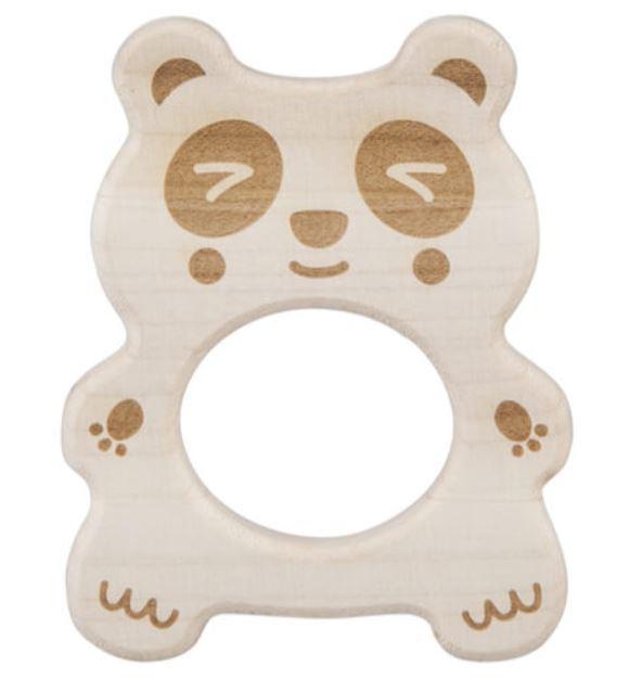 Drewniany gryzak - miś panda