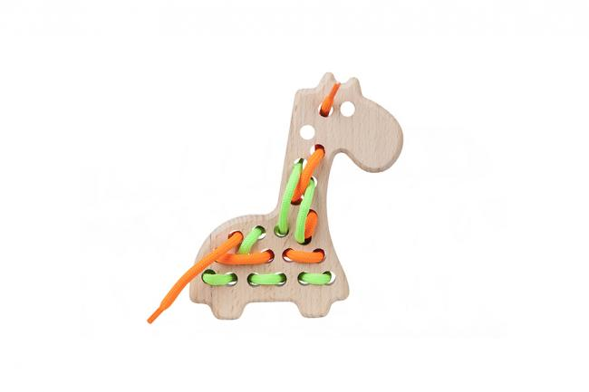 Drewniana przeszywanka - żyrafka - różne kolory