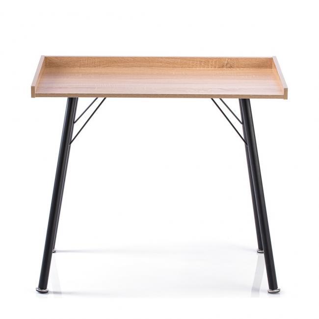 Biurko - stolik w kolorze dębu - nóżki czarne