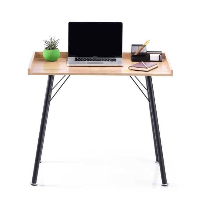 Biurko - stolik w kolorze dębu - nóżki czarne - LOFT
