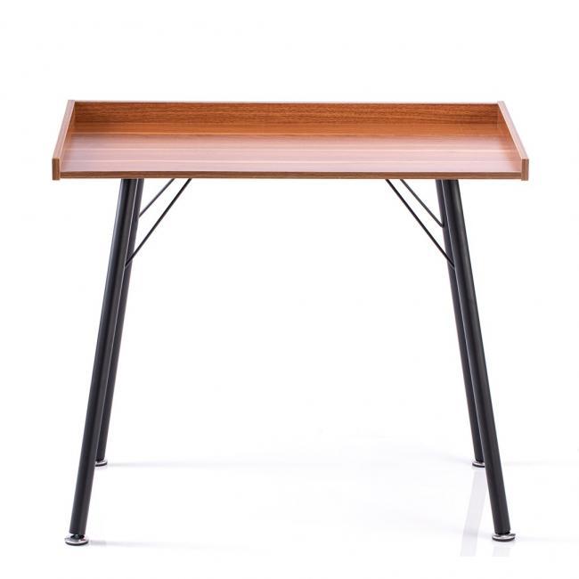 Biurko - stolik - kolor orzechowy - czarne nóżki