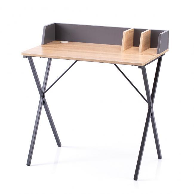 Biuro - stolik - kolor dębowy  czarne nóżki